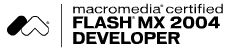 Macromedia Flash MX 2004 Developer Logo